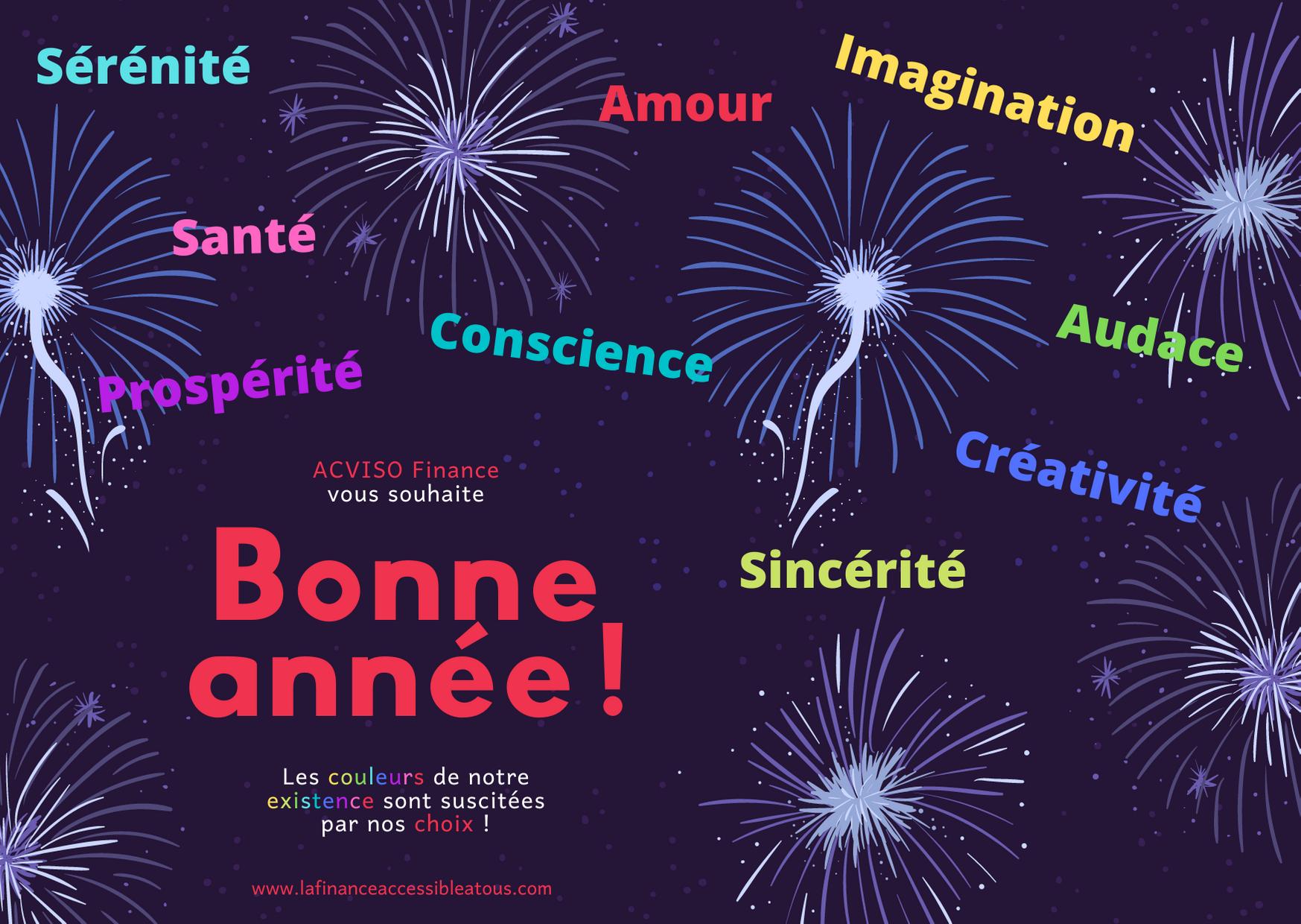 feux d'artifices multicouleurs pour la nouvelle année